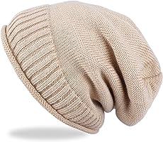 ANVEY Feinstrick Beanie Mütze mit Sehr Weichem Fleece Innenfutter