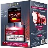 L'Oréal Paris Revitalift Laser X3 Routine Duo Set de cuidado facial intensivo antiedad, mitiga las arrugas y proporciona una