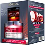 L'Oréal Paris Revitalift Laser X3 Routine Duo Set per la cura del viso intensiva anti-età, attenua le rughe e garantisce…