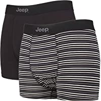 Jeep - 3 Pairs Mens Soft Natural Bamboo Fibres Comfortable Fitted Trunks