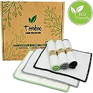 teroboo Reinigingsdoekjes van bamboevezels, milieuvriendelijk/duurzaam/veelzijdig.
