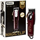 Wahl Professional 5-Star Cord/Cordless Magic Clip #8148 – Great for Barbers and Stylists – Precision Cordless Fade Clipper Lo