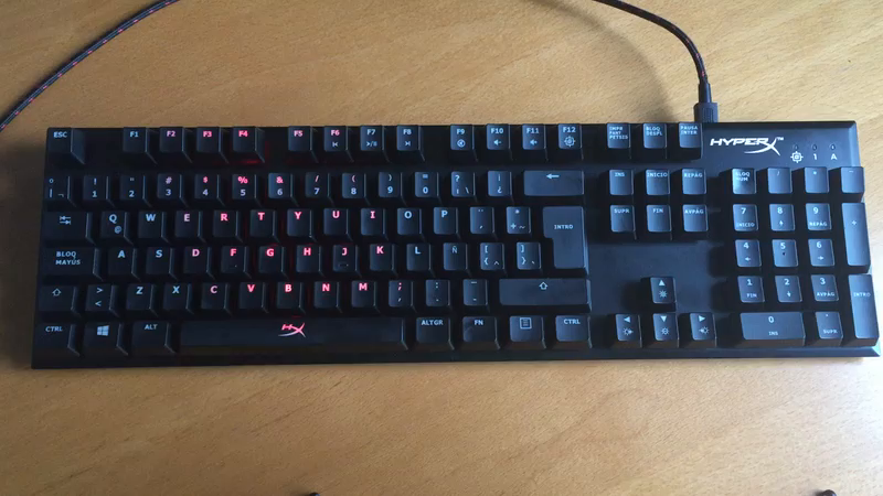 Amazon.es:Opiniones de clientes: HyperX Alloy Elite - Teclado mecánico para Juegos (Cherry MX Red, retroiluminación LED Rojo, Tipo QWERTY latinoamericano)