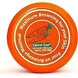 Carrot-Sun Bruiningsversneller bruiningscrème met wortelolie, L-tyrosine en henna voor een goudbruine en snelle bruining. 350