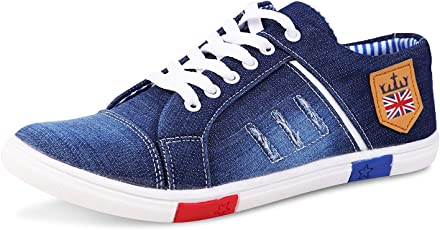 Bonexy Men's Canvas Jeans Shoes