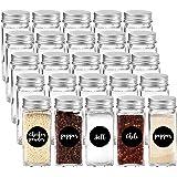 GoMaihe Kruidenpotten 25 Set, Transparante opbergpotten met Deksels/Mason Potten/Glazen Potjes, voor Handige en Praktische op