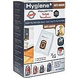 Rowenta Lot de 4 sacs Hygiène+, Anti-odeur, Compatibles avec les aspirateurs traineau Compact Power, Power XXL, Silence Force