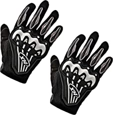 AllExtreme GLV-004TX Full Finger Protective Gloves with Antiskid Surface for Motorcycle Motocross Cycling Bike (Black, XL)