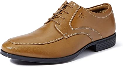 Extacy By Red Chief EXT119 Men's Tan Formal Leather Shoes