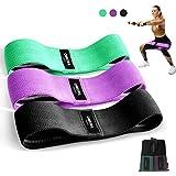 OMERIL Bande Elastiche di Resistenza, Set Fasce Elastiche Fitness in Tessuto (3 Pezzi) con 3 Livelli di Resistenza, Bande Fit