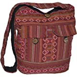 Schultertasche Umhängetasche Beuteltasche Freizeittasche Ethno Boho Hippie Goa Indische Tasche (B05.08)