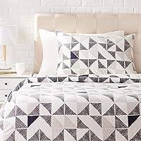 Amazon Basics Parure de lit avec housse de couette en satin, 135 x 200 cm / 50 x 80 cm x 1, Fusion diamant