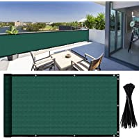 YQing 106cm x 502cm Balcony Privacy Screen Fence Windscreen for Porch Deck, Outdoor, Backyard, Patio, Balcony to Cover Sun Shade, UV-Proof, Weather-Resistant, Includes 35 pc Cable Ties