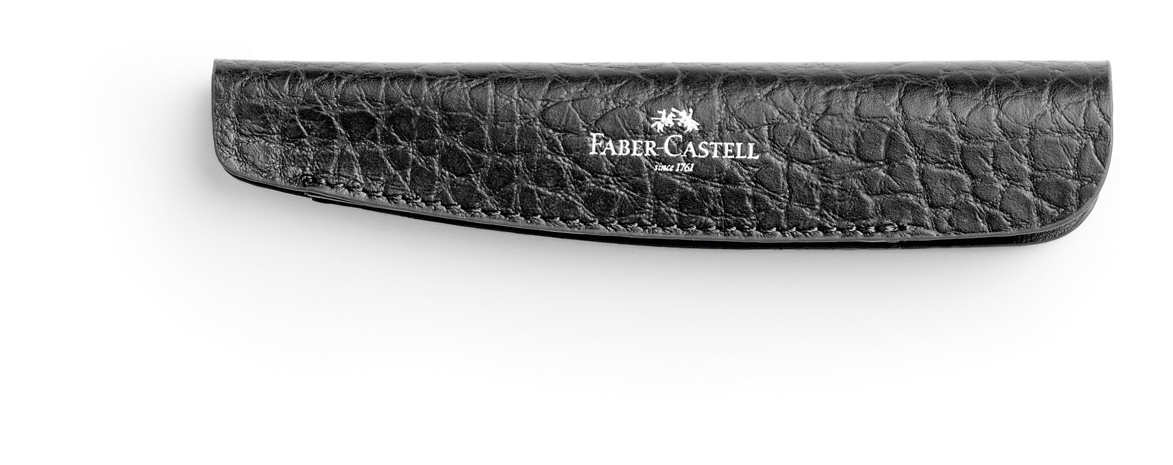 Faber-Castell – Estuche para portaminas (piel), color negro
