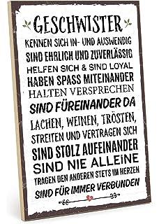 Typestoff Holzschild Mit Spruch Im Vintage Look Mit Zitat