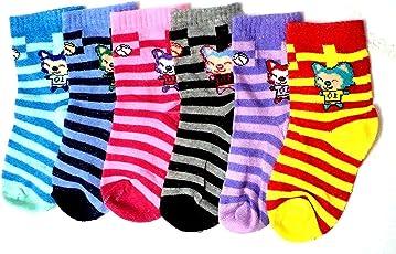 Devil Boy's|Girl's Printed Kids Cotton Socks (Pack Of 6)