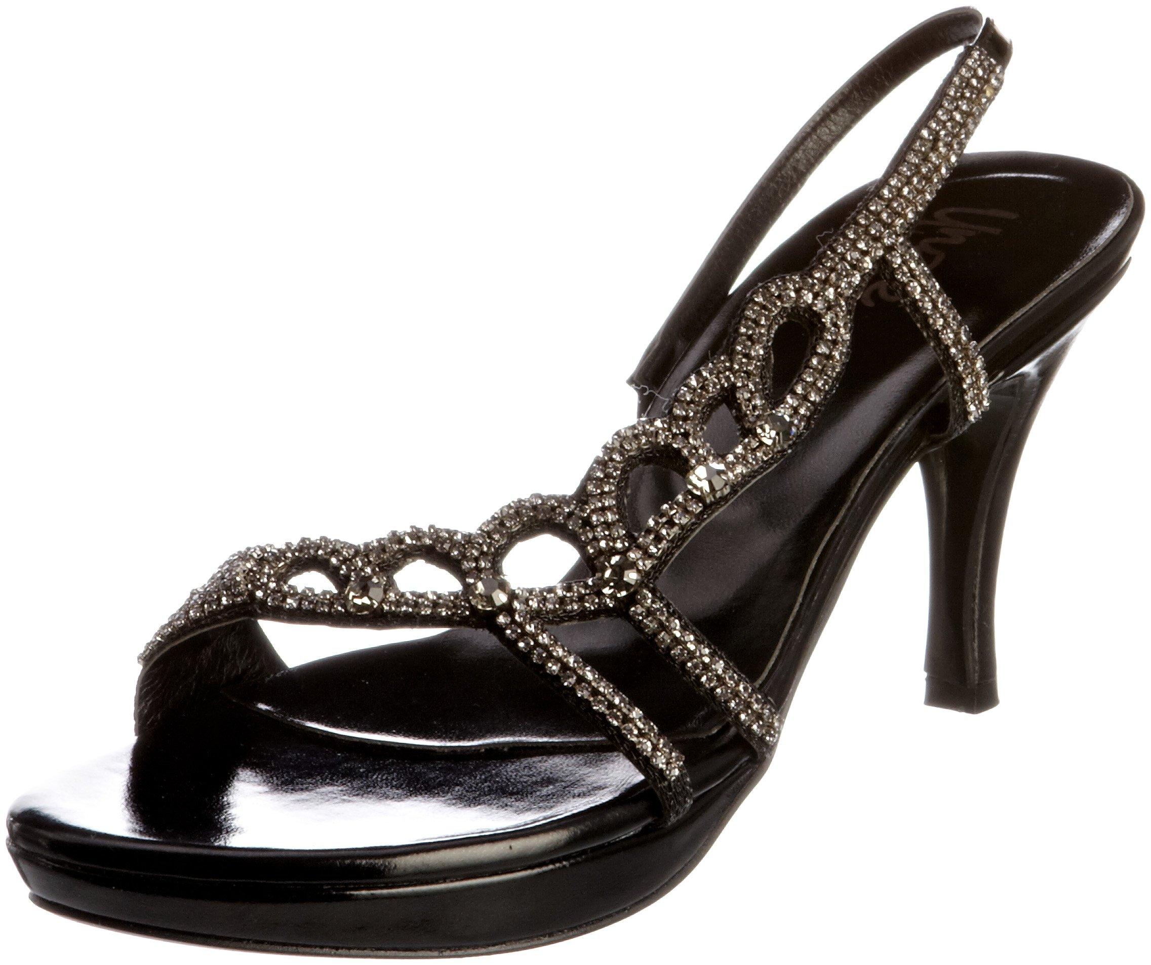 (TG. Sandals, 38 EU) Unze Evening Sandals, (TG. Sandali col tacco donna, Nero (Schwarz (j6J) 915414
