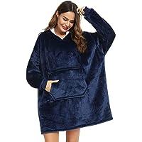YEPLINS Oversized Hooded Sweatshirt,Sherpa Hoodie Sweatshirt Blanket,Hooded Giant Sweatshirt Soft Warm Wearable Throw…