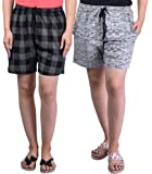 69GAL Women's Cotton Shorts Pack of 2