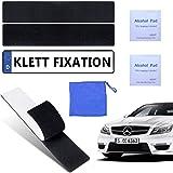 2 x registreringsskylthållare för bilen utan skruvar   Lätt att fästa kardborreband   Nummerskylthållare ramlös   Inkl. 2 ren