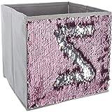 Atmosphera - Bac de Rangement Sequin Argent/Rose