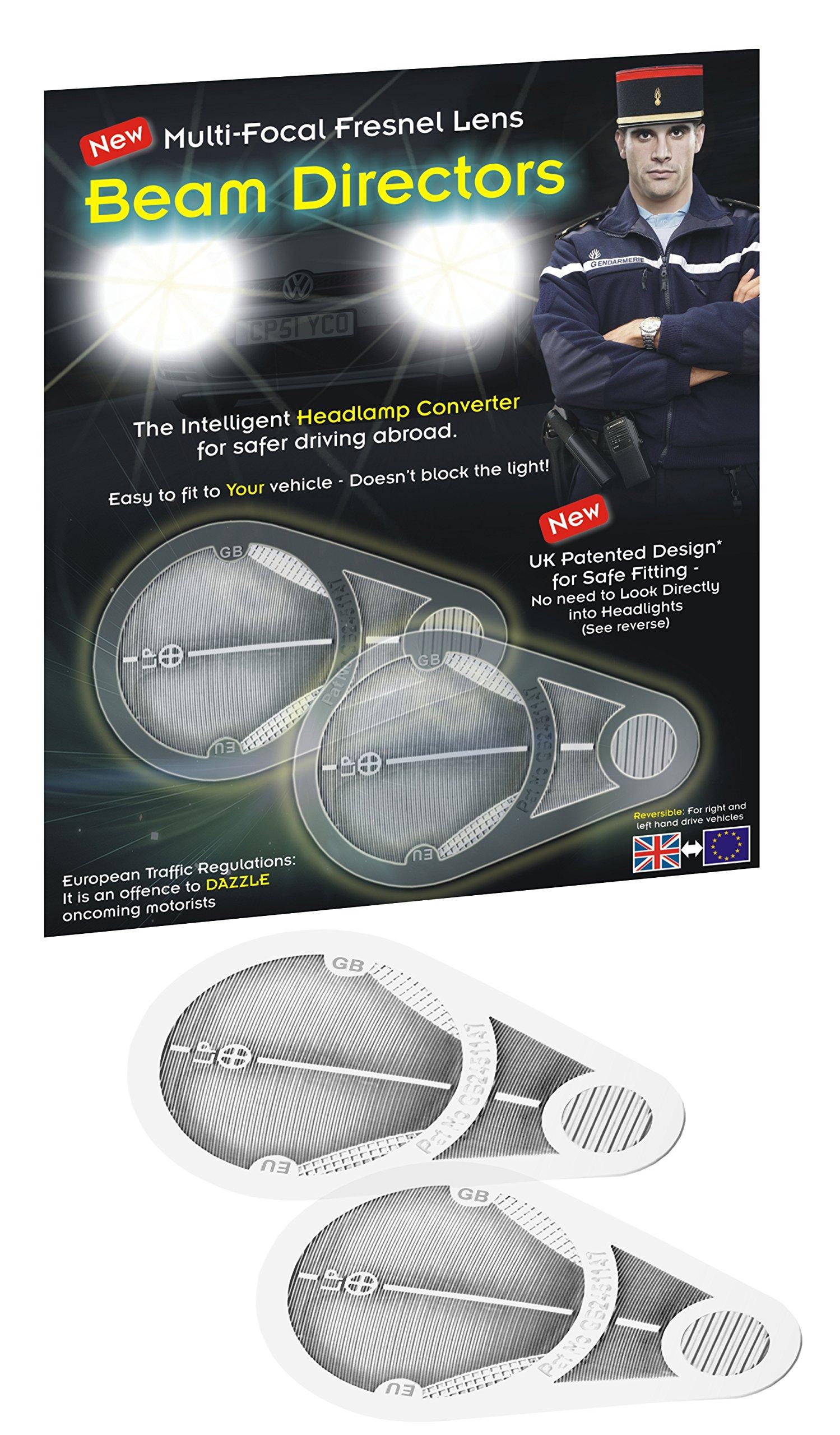 Headlamp Adaptors Beam Deflectors Fresnel Lens GB Sticker