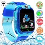 Kids Tracker Smart Watch Phone, Touch Screen Mobile Smart Watches for Girls Boys, Smartwatch Waterproof, SOS, Game, Alarm...
