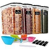 GoMaihe 4L Boite de Rangement Cuisine Lot de 4, Bocaux Hermetiques Alimentaires en Plastique Scellée avec Couvercle, pour Sto
