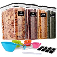 GoMaihe 4L Boite de Rangement Cuisine Lot de 4, Bocaux Hermetiques Alimentaires en Plastique Scellée avec Couvercle…