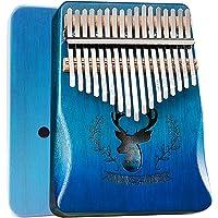 BelonLink Kalimba 17 tasti - Thumb Piano, Mogano di alta qualità, Mbira con martello accordatore, borsa per pianoforte…