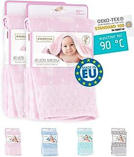 Windeln 70x70 cm 3 St/ück pink//Herzen Mullwindeln Super weiches Musselin Spuckt/ücher