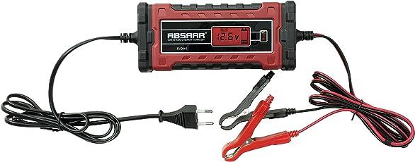 Absaar 158003 Batterieladegerät Evo 8.0 12/24V, Rot/Schwarz, 8A
