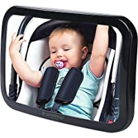 Parenthings Baby Car Mirror for Back Seat Rear View Monitor-Super Clear Wide View with Acrylic 360° Rotatable Pivot-100% Shatterproof and Stable-Universal Fit Classic Black