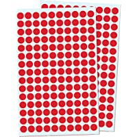 1cm Round Colour Coding Circle Dot Sticker Labels - Red, Pack of 3000