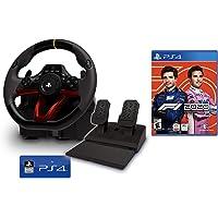 """Volante e pedali PS4 Playstation 4 """"Wireless"""" con licenza Sony [nuovo modello] + Formula 1 2020 / F1 2020 PS4"""