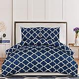 Utopia Bedding Dekbedovertrek 200x200 cm met 2 Kussenslopen 80x80 cm - Navy Blue Tweepersoons Dekbedovertrekset - Microfiber
