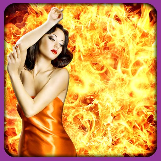 Fuego Photo selfie