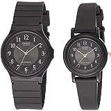 Casio His & Hers Black Dial Resin Band Couple Watch - MQ-24-1B3/LQ-139AMV-1B3
