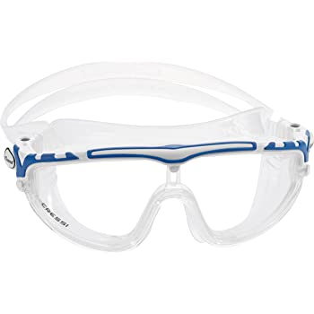 eefcad7440 Cressi Skylight 180 Degrees View Anti Fog Swim Goggles - White Blue Clear  Lens