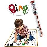 ODS-48400 Bing Tappetone da colorare Fronte/Retro 70x70 cm, Lavabile, con 4 pennarelli Inclusi, 48400