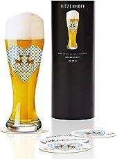 Ritzenhoff Weizenbierglas, Kristall, 8.5 x 8.5 x 23 cm