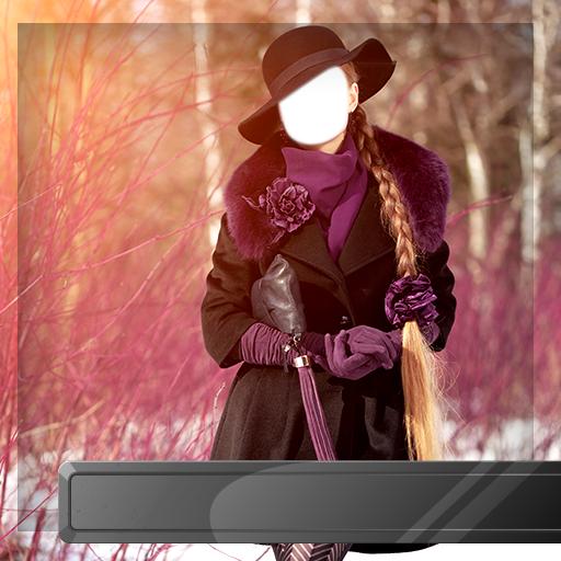 Winterkleid-Fotomontagen -