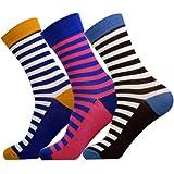 Jasmine Silk 3 Pairs Supersoft Mens Bamboo Socks Thermal Sock 7-11 Patterns