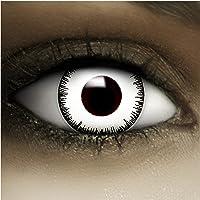 Farbige Kontaktlinsen Vampir MIT STÄRKE -1.00 + Kunstblut Kapseln + Behälter von FXCONTACTS in weiß, weich, im 2er Pack…