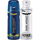 Park Avenue Tranquil Stay Calm Fragrance Body Spray For Men, 150ml & Park Avenue Voyage Premium Body Spray, 150 ml