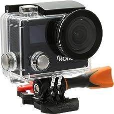 Rollei Actioncam 430 - Leistungsstarker WiFi Camcorder mit 4K, 2K, Full HD Videoauflösung und Slow-Motion, U3 Karten verwenden - Schwarz