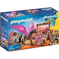 Playmobil- The Movie Marla et Del avec Cheval ailé, 70074