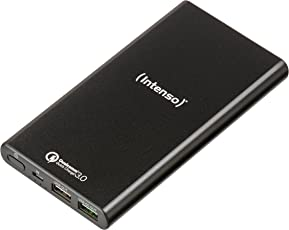 Intenso Powerbank Q10000 externes Ladegerät (mit Quick Charge 3.0 Technologie (10000mAh)) schwarz