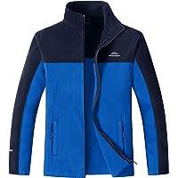 MAGCOMSEN Men's Fleece Jacket Winter Warm Casual Jackets Outdoor Stand Collar Coats with Zip Pockets