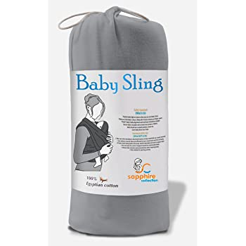 baac02f55e1 Baby Sling Stretchy Wrap Carrier Pouch Extra Soft and Lightweight  Breastfeeding - Birth To 3Yrs (
